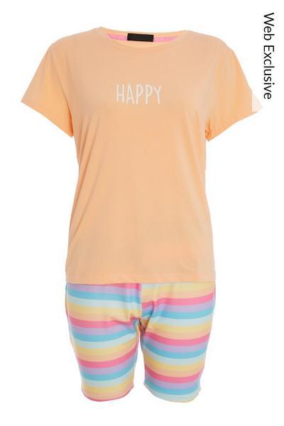 Multicoloured Short Pyjama Set